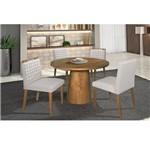 Conjunto Sala de Jantar com Mesa Redonda Henry, 2 Cadeiras Charles e 2 Cadeiras Frida