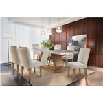 Conjunto Sala de Jantar com Mesa Sonata e 6 Cadeiras Veludo Creme, Clayre II