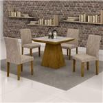 Conjunto Sala de Jantar Mesa Sevilha Tampo de Vidro 4 Cadeiras Classic Cel Móveis Ypê/Pena 84