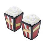 Conjunto Saleiro e Pimenteiro Pipoca de Porcelana 4,5X8 Cm
