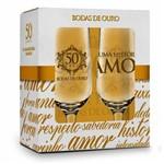 Conjunto 2 Taças Bodas de Ouro 285ml
