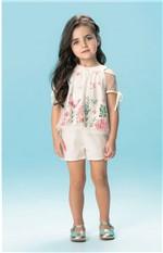 Conjunto Tule Menina Carinhoso Branco - 1
