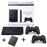 Console Playstation 2 + 2 Controles Sony + 2 Jogos Mark Mirror / Socom + 1 Memory Card