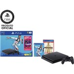Console PlayStation 4 1TB Bundle com Game Fifa 19 - Sony + Game Uncharted The Nathan Drake Collection Hits - PS4
