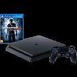 Console PS4 Slim 500GB + Game Uncharted 4 Nacional com 1 Ano de Garantia - Sony