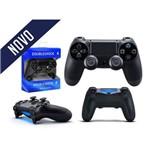 Controle com Fio para Video Game Ps4 Preto