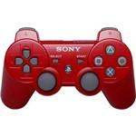 Controle Dualshok 3 Prata PS3 - Vermelho