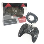 Controle Joystick com Fio Usb para Raspberry, Playstation 3 Play 3 Ps3 e Pc Feir Fr-2120 Preto
