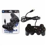 Controle Joystick para Jogos Games PC e Notebook Compatível Windows 10 8 e 7 Vista XP Dualshok Preto