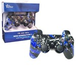 Controle Joystick Wireless Bluetooth para Playstation3 Ps3 Pc Notebook Raspberry Feir Fr-205wt Azul