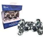 Controle Joystick Wireless Bluetooth para Playstation3 Ps3 Pc Notebook Raspberry Feir Fr-205wt Preto