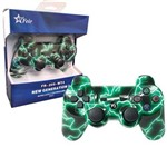 Controle Joystick Wireless Bluetooth para Playstation3 Ps3 Pc Notebook Raspberry Feir Fr-205wt Verde