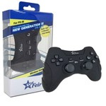 Controle Joystick Wireless Sem Fio Bluetooth Dualshock Sixaxis para Playstation 3 Play 3 Ps3 Feir Fr-218 Preto