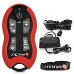 Controle Longa Distância Stetsom Sx2 Alcance 500 Metros - Vermelho Universal