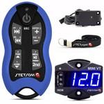 Controle Longa Distância Stetsom Sx2 Azul + Mini Voltímetro Vt Digital