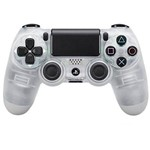 Controle Sem Fio Sony Dualshock 4 CUH-ZCT2U para Playstation 4 - Transparente/Cinza