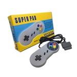 Controle Super Nintendo Snes Joystick Super Pad 1,5m + Forte