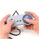 Controle Usb Super Nintendo - Azul e Cinza
