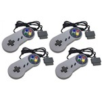 Kit com 10 Controles Snes Super Nintendo Joystick Super Pad