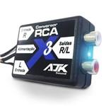 Conversor de Sinal Rca Ajk Sound X3 - 2 Canais - Remote