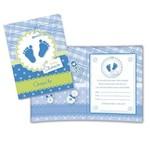 Convite Baby Shower Azul 08 Unidades