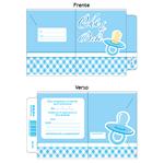 Convite Chá de Bebê Chupeta Azul