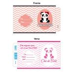 Convite Chá de Bebê Panda Rosa