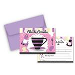 Convite Chá de Cozinha Lilás e Preto