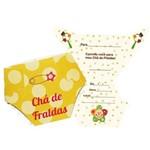 Convite Chá de Fralda Duster Amarelo C/ 08 Unidades