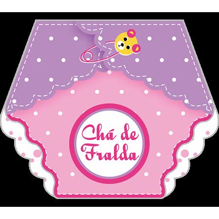Convite Chá de Fraldas Fraldinha Menina