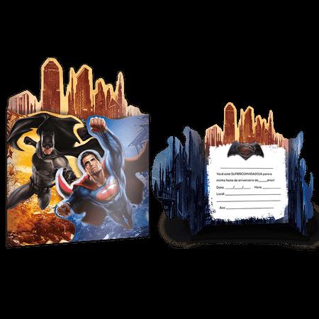Convite de Aniversário Batman Vs. Superman - 08 Unidades
