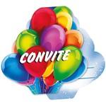 Convite de Aniversario Foto Baloes R.60 C/8un Regina Festas Pct.c/12