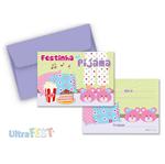 Convite Festinha do Pijama C/ Envelope - 08 Unidades