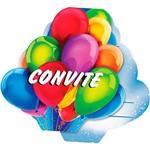 Convite Grande Balões - 8 Unidades - Regina Festas