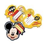 Convite Mickey C/ 08 Unidades