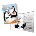 Convite os Pinguins de Madagascar C/ 08 Unidades