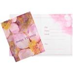 Convite Pequeno 15 Anos Flores Pink - 10 Unidades - Regina Festas