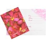 Convite Pequeno 15 Anos Flores Vermelhas - 10 Unidades - Regina Festas