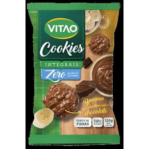 Cookies Integrais Zero Adição de Açúcares Banana com Cobertura de Chocolate Escuro 150g