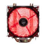 Cooler com 21 Led's para Cpu Universal Vermelho Dx-2021