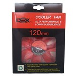 Cooler Fan 120mm Dex Dx 12l Red com Led