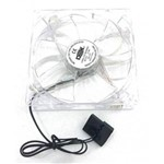 Cooler Fan 12x12 C/4 Led Branco - Dx-12t