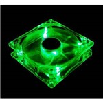Cooler Fan Led Verde 12cm 120x120x25 120mm Green Led 2 Plugs DX-12L