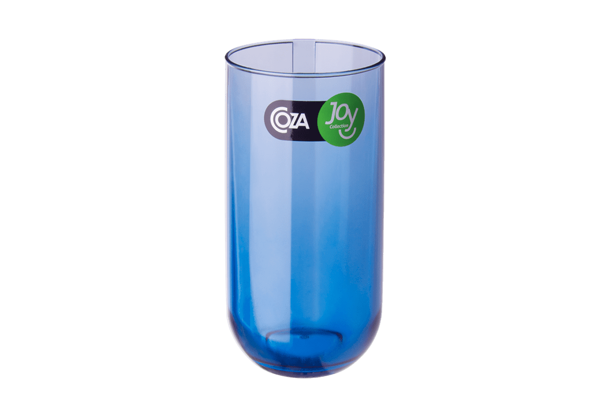 Copo Alto 400 Ml - Fun 7,1 X 7,1 X 14 Cm Azul Coza
