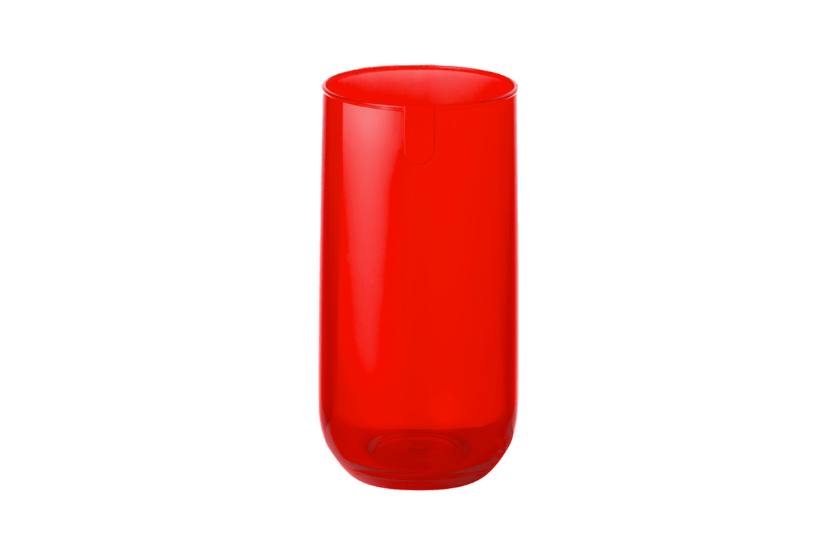 Copo Alto - Fun 7,1 X 7,1 X 14 Cm Vermelho Transparente Coza