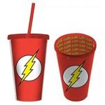 Copo Canudo Dc The Flash Vermelho