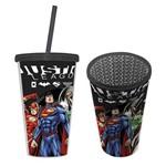 Copo Canudo Liga da Justiça DC Comics