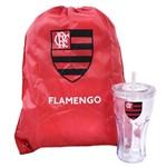 Copo com Canudo 550ml e Mochila Tipo Saco - Flamengo