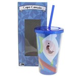 Copo com Canudo Adventure Time 500 Ml
