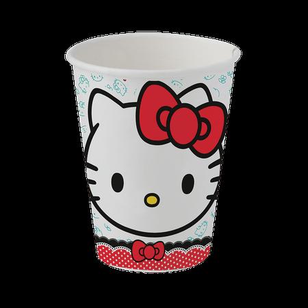 Copo de Papel Descartável Hello Kitty - 08 Unidades